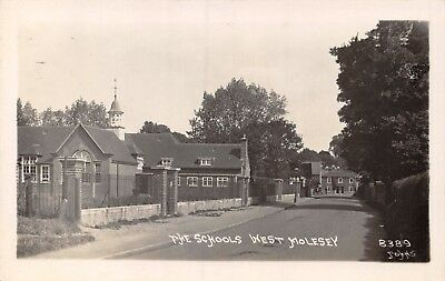 Surrey West Molesey The Schools Building From Road Photo Card