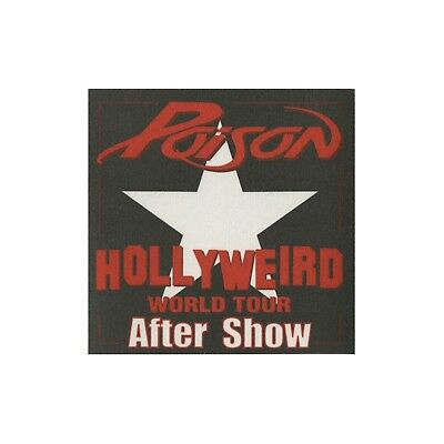 Poison authentic 2002 Hollyweird tour Satin cloth Backstage Pass