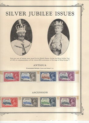 Large Complete 1935 Silver Jubilee Issue On Album Pages-Mnh!