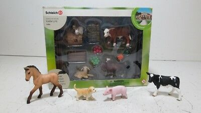Schleich Farm Life #21052 Barnyard Playset w/Extra Horse, Pig, Puppy and Cow
