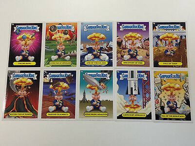 2012 USA Garbage Pail Kids Brand New Series 1 COMPLETE Adam Bomb Through History