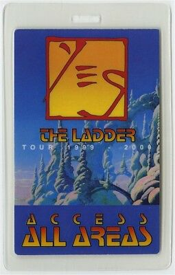 Yes authentic 1999-2000 The Ladder Tour concert Laminated Backstage Pass AA