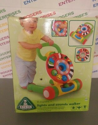 Early Learning Centre ELC Lights and Sounds Activity Baby Walker -New Box v.poor
