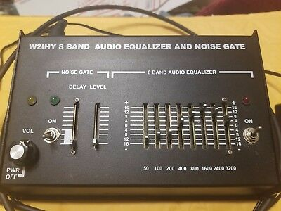 W2IHQ 8 Band Audio Equalizer EQ and Noise Gate for DX, etc. w/ cables