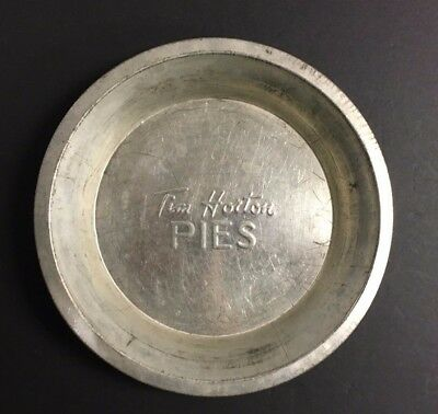 Vintage TIM HORTON Hortons Tin Pie Plate 9 inch Hard to Find Silver