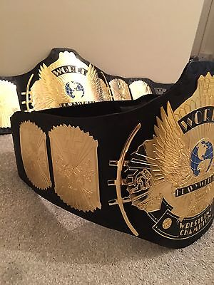 WWE  / WWF CLASSIC GOLD Winged Eagle REPLICA ADULT Title Belt  With Carry Case