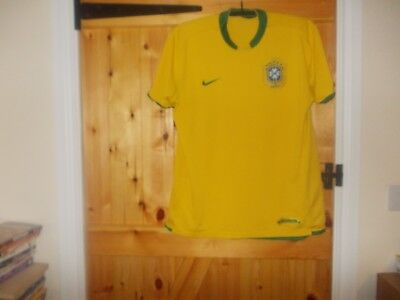 Brazil Home Football Shirt By Nike In Size Large 42/44 Inch Chest