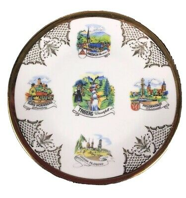 Vintage German Souvenir/Collectible Plate Black Forest Landmarks