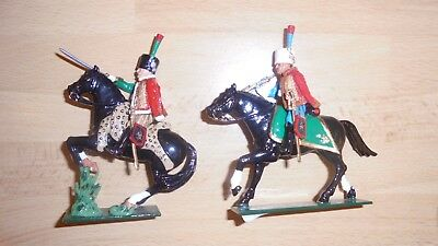 tradition 54mm metal gloss painted french mtd chasseur officer and bugler 1815
