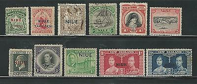 Niue: Little lot mint stamps, also used, good value + 90$...NU01