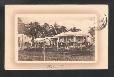 Tonga: Postal Stationery to France in 1917. Hospital of Vavau, thematic. TG074