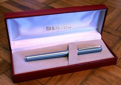 Sheaffer - Fashion 240 Fountain Pen, Brushed Metal With Chrome Trim & Case