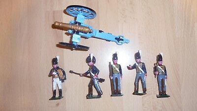 tradition 54mm metal gloss painted british RHA gun and crew 1815