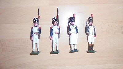 tradition 54mm metal gloss painted french grenadiers, officer and sapper 1815