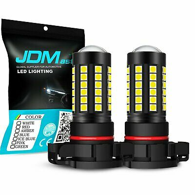 JDM ASTAR 2x 5000Lm 5202 H16 Super Bright Xenon White LED DRL Fog Lights  Bulbs
