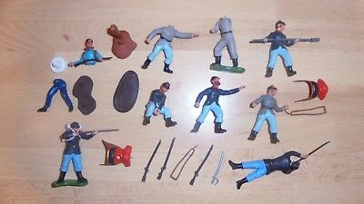 britains 54mm plastic acw 1861-65 union and confederate swoppet spares