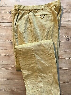 Vintage Heavy  Mustard Cords Corduroy Trousers Size 40