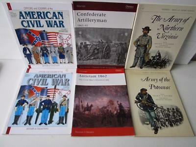 American Civil War Soft Back Books Job Lot Of 6. Osprey, Histoire & Collections