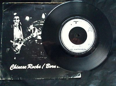 """HEARTBREAKERS (Johnny Thunders) / Chinese Rocks/Born to Lose,Punk/ 7"""" P/S/A2-B2"""