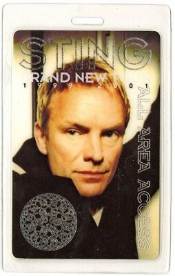Sting authentic 1999-2000 concert Laminated Backstage Pass Brand New Tour Police