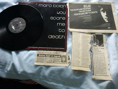 T.rex/marc Bolan/you Scare Me To Death/album 1981/press Cuttings/inner Booklet