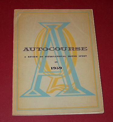 AUTOCOURSE 1959 Annual Racing Book - ENGLISH - 168 pages with fold-outs -  RARE