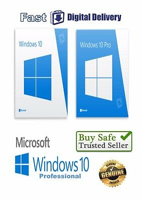 Genuine Windows 10 Professional Original Product License Key 32/64 Bit
