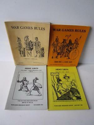 Vintage Wargames Soft Back Books Job Lot Of 4. War Games Rules / Army Lists