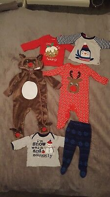 Baby boy christmas outfit bundle including all in one 3-6 months