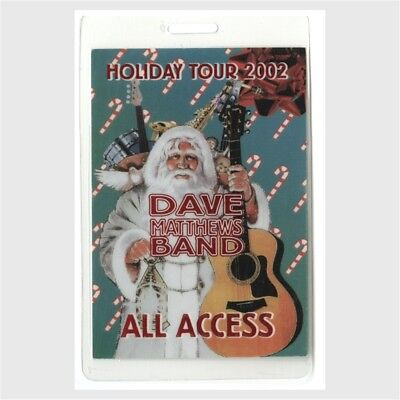 Dave Matthews Band authentic 2002 concert Laminated Backstage Pass Holiday Tour