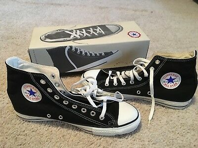 Converse All Star Chuck Taylor Hi Tops Made in USA Black 9 1/2 9.5 New in Box