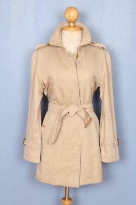 Womens BURBERRY Single Breasted Short TRENCH Coat Mac 10/12