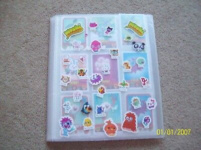 100+ Moshi Monsters Mash Up Trading Cards & Binder