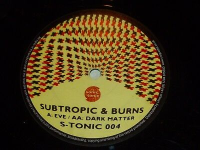"SUBTRPOIC & BURNS - Eve - UK 2-track 12"" Vinyl Single"