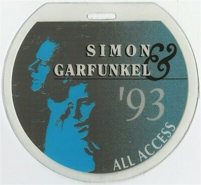 Simon & Garfunkel authentic 1993 concert tour Laminated Backstage Pass original