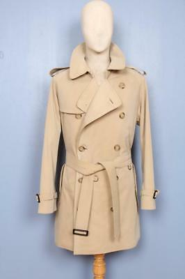 Superb Mens BURBERRY Double Breasted Short TRENCH Coat Mac Beige Size 38/40