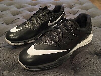 NEW Nike Lunar Control 4 Golf Spikes Men's Size 10.5W (819036-001) Black/White