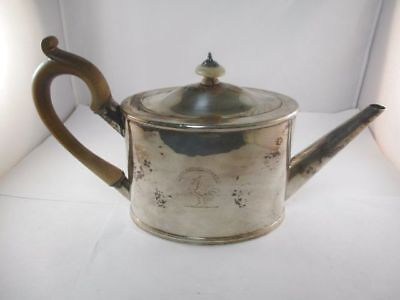 Georgian Sterling Silver Tea Pot Robert Sharp Circa 1797