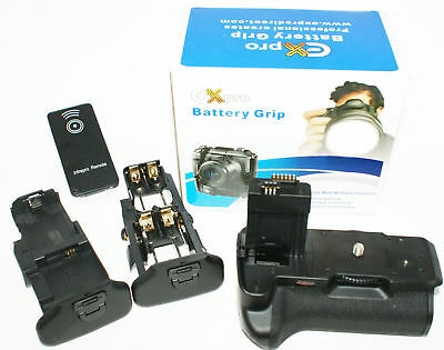 Ex-Pro® Power Grip BG-E5 KIT 4x LP-E5 for Canon EOS 450D 500D IR Remote Shutter