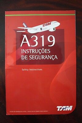 Safety Card Tam Brazil Airbus A 319
