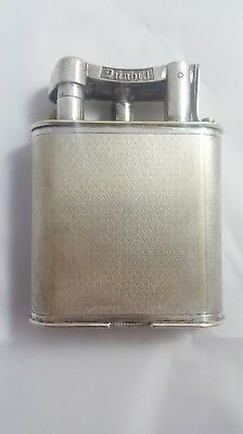 Dunhill Tisch-Feuerzeug-Table Lighter-Silber/Silver Rare-Vintage-Luxury-England