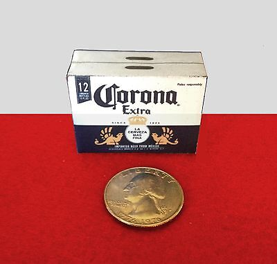 """1:6 scale Handmade miniature for 11""""-12"""" size dolls - Corona beer case"""