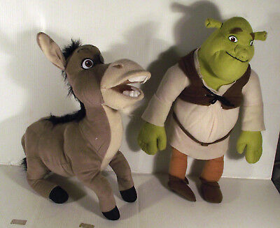 "12"" SHREK + DONKEY - 2 x SOFT TOY"