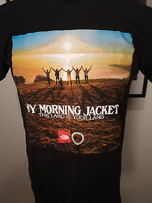 My Morning Jacket North Face Conservation Concert Shirt This Land is Your Land M