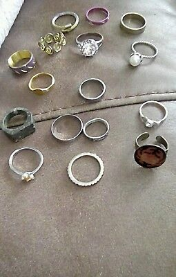 Vintage  Rings 16 Old, Different Sizes