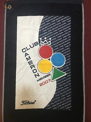 "Scotty Cameron Titleist golf towel. RARE!  ""Fine milled Putters"". NEW!"