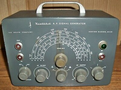 Heathkit RF Signal Generator Model SG-8 with Test Cable & Manual