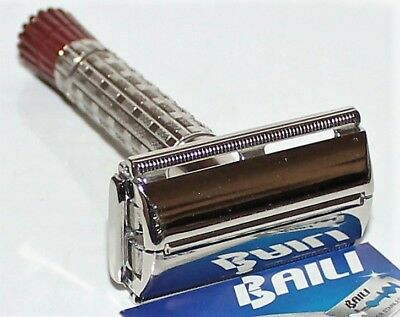 Vintage Gillette 1956 Red Tip Double Edge Safety Razor B-2 And Blade