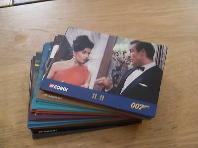 James Bond corgi trading card set - 50 card complete set