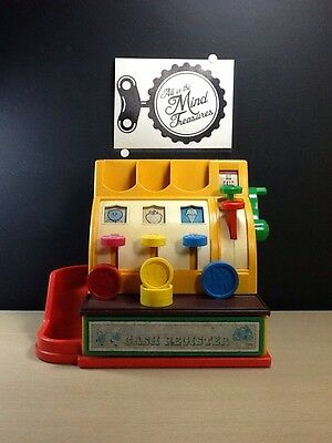 Fisher Price 926 Cash Register with coins vintage made in USA works